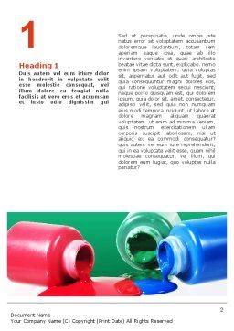 Paint Cans Word Template, First Inner Page, 02465, Utilities/Industrial — PoweredTemplate.com