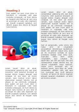 Paint Cans Word Template, Second Inner Page, 02465, Utilities/Industrial — PoweredTemplate.com