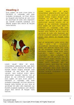 Tropical Fish Word Template Second Inner Page