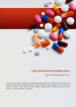 Pills and Tablets Word Template, Cover Page, 02467, Medical — PoweredTemplate.com
