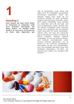 Pills and Tablets Word Template, First Inner Page, 02467, Medical — PoweredTemplate.com