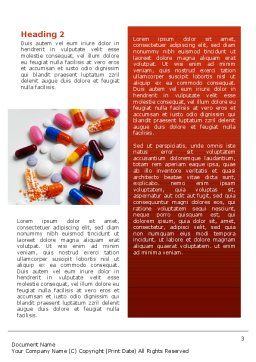 Pills and Tablets Word Template, Second Inner Page, 02467, Medical — PoweredTemplate.com