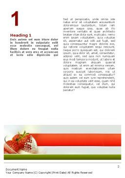 Strawberry Word Template, First Inner Page, 02470, Food & Beverage — PoweredTemplate.com