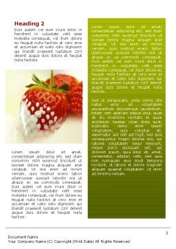 Strawberry Word Template, Second Inner Page, 02470, Food & Beverage — PoweredTemplate.com