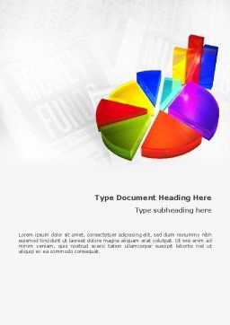 Diagram Word Template, Cover Page, 02474, 3D — PoweredTemplate.com