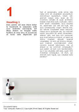 Bottle of Wine Word Template, First Inner Page, 02476, Food & Beverage — PoweredTemplate.com