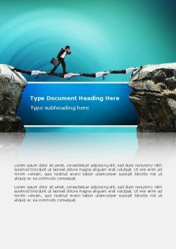 Career Canyon Word Template, Cover Page, 02479, Consulting — PoweredTemplate.com