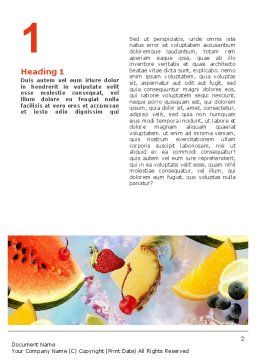 Water Melon Word Template, First Inner Page, 02481, Food & Beverage — PoweredTemplate.com