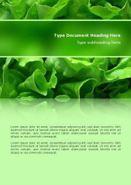 Lettuce Word Template, Cover Page, 02484, Food & Beverage — PoweredTemplate.com