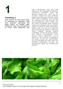 Lettuce Word Template, First Inner Page, 02484, Food & Beverage — PoweredTemplate.com