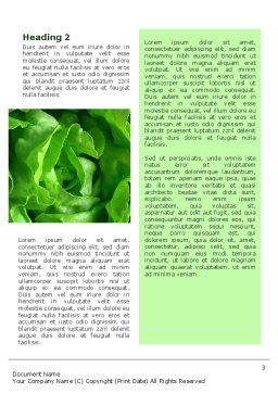 Lettuce Word Template Second Inner Page