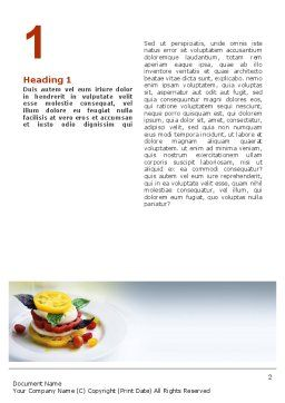 Vegetables Word Template, First Inner Page, 02486, Food & Beverage — PoweredTemplate.com