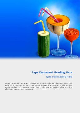 Vitamin Cocktail Word Template Cover Page