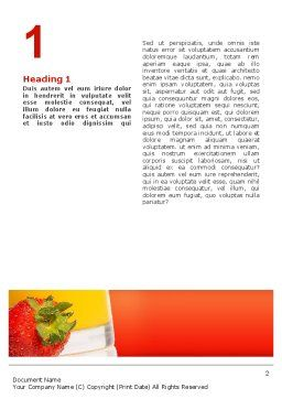 Juice Word Template, First Inner Page, 02489, Food & Beverage — PoweredTemplate.com