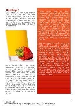 Juice Word Template, Second Inner Page, 02489, Food & Beverage — PoweredTemplate.com