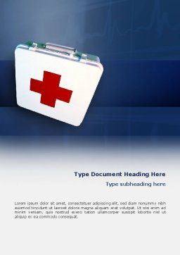 First Aid Word Template, Cover Page, 02490, Medical — PoweredTemplate.com