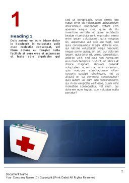 First Aid Word Template, First Inner Page, 02490, Medical — PoweredTemplate.com