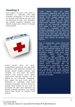 First Aid Word Template, Second Inner Page, 02490, Medical — PoweredTemplate.com