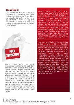No Smoking Word Template, Second Inner Page, 02493, Medical — PoweredTemplate.com