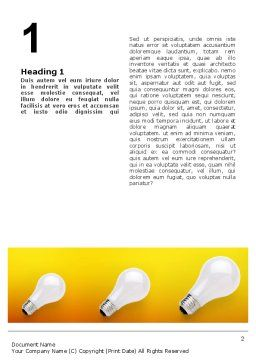 Lamp Word Template, First Inner Page, 02494, Consulting — PoweredTemplate.com