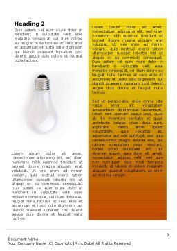 Lamp Word Template, Second Inner Page, 02494, Consulting — PoweredTemplate.com