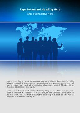 Globalization Word Template, Cover Page, 02495, Global — PoweredTemplate.com