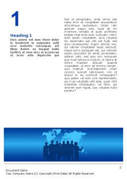Globalization Word Template, First Inner Page, 02495, Global — PoweredTemplate.com
