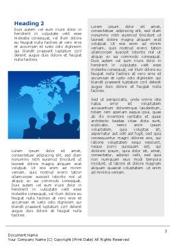 Globalization Word Template, Second Inner Page, 02495, Global — PoweredTemplate.com