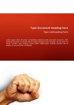 Fist Of Fury Word Template, Cover Page, 02497, Business Concepts — PoweredTemplate.com