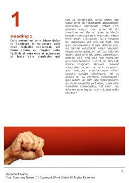 Fist Of Fury Word Template, First Inner Page, 02497, Business Concepts — PoweredTemplate.com