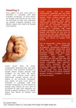 Fist Of Fury Word Template, Second Inner Page, 02497, Business Concepts — PoweredTemplate.com
