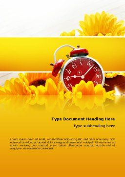 Country Life Word Template, Cover Page, 02498, Medical — PoweredTemplate.com