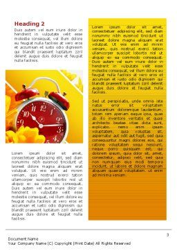 Country Life Word Template, Second Inner Page, 02498, Medical — PoweredTemplate.com