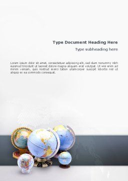 Globes Of Earth Word Template Cover Page
