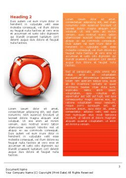Saving Buoy Word Template, Second Inner Page, 02501, Business Concepts — PoweredTemplate.com