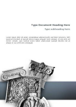 Decor Word Template, Cover Page, 02507, Construction — PoweredTemplate.com