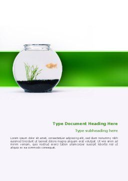 Aquarium Fish Word Template, Cover Page, 02508, Agriculture and Animals — PoweredTemplate.com