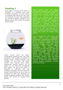 Aquarium Fish Word Template, Second Inner Page, 02508, Agriculture and Animals — PoweredTemplate.com