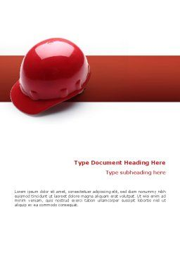 Personal Safety Word Template, Cover Page, 02510, Construction — PoweredTemplate.com