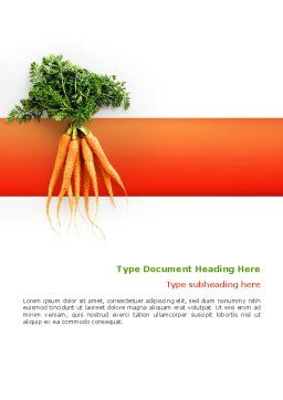 Carrot Word Template, Cover Page, 02511, Agriculture and Animals — PoweredTemplate.com