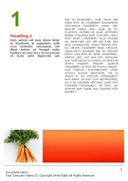 Carrot Word Template, First Inner Page, 02511, Agriculture and Animals — PoweredTemplate.com