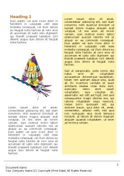 Birthday Word Template, Second Inner Page, 02513, Holiday/Special Occasion — PoweredTemplate.com