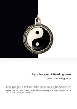 Yin Yang Word Template, Cover Page, 02525, Religious/Spiritual — PoweredTemplate.com