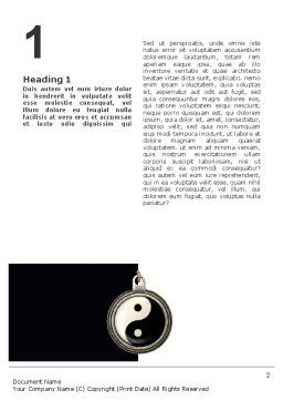 Yin Yang Word Template First Inner Page