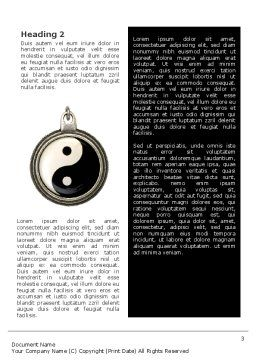 Yin Yang Word Template Second Inner Page