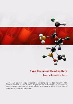 Genetically Recombinant Medicine Word Template, Cover Page, 02526, Technology, Science & Computers — PoweredTemplate.com
