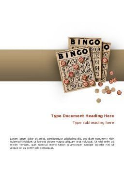Bingo Word Template Cover Page