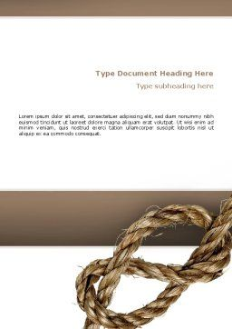 Rope Word Template, Cover Page, 02532, Business Concepts — PoweredTemplate.com
