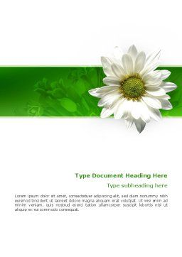 Ox-eye Daisy Word Template Cover Page