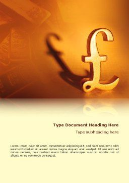 Pound Word Template, Cover Page, 02534, Financial/Accounting — PoweredTemplate.com